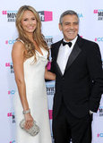 Sexy George Clooney Has a White Hot Stacy Keibler By His Side For the Critics' Choice Awards