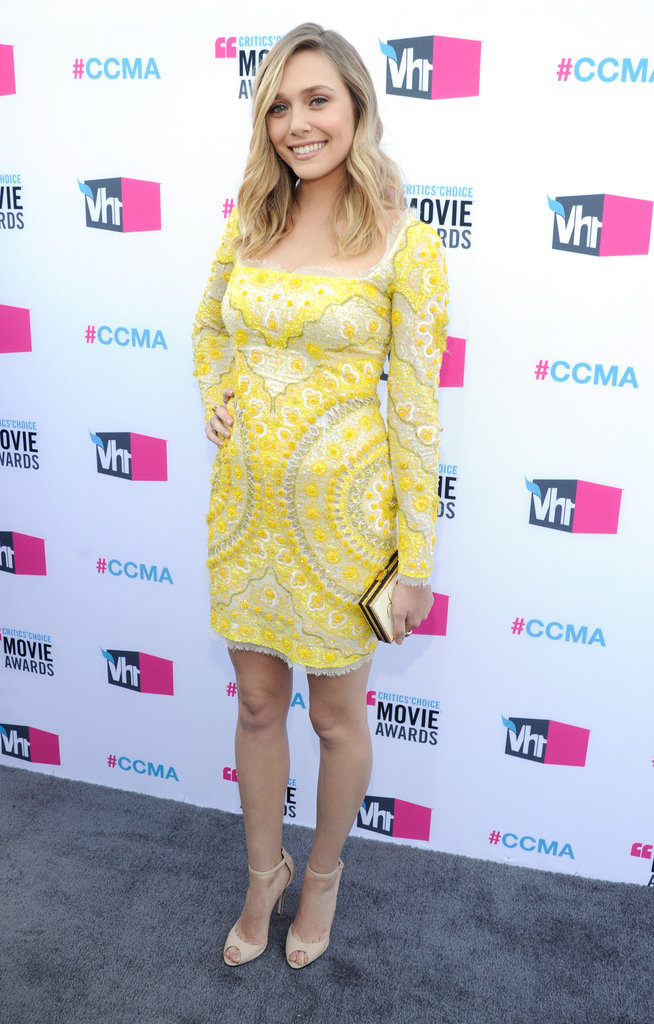 Elizabeth Olsen was in a yellow dress in LA.