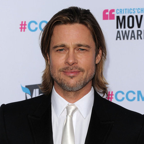 Brad Pitt in White Tie Pictures at 2012 Critics' Choice Awards