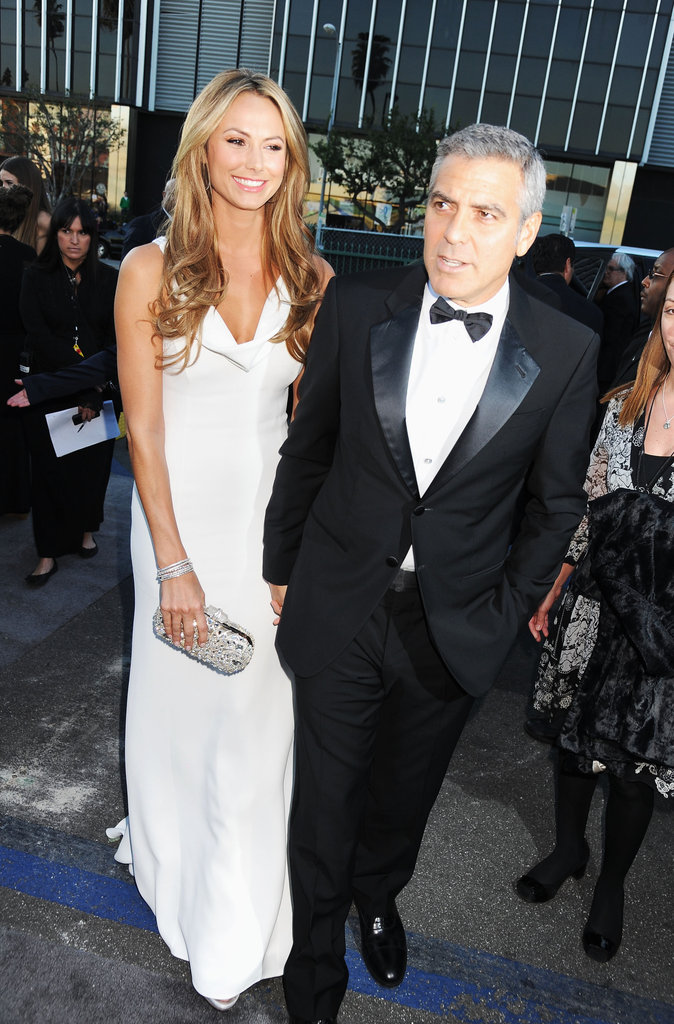 George Clooney and Stacy Keibler held hands at the Critics' Choice Movie Awards.