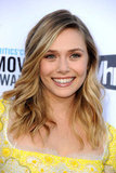Elizabeth Olsen had her signature wavy hair for the Critics' Choice Movie Awards.