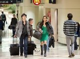 Ian Somerhalder and Nina Dobrev were at LAX together.