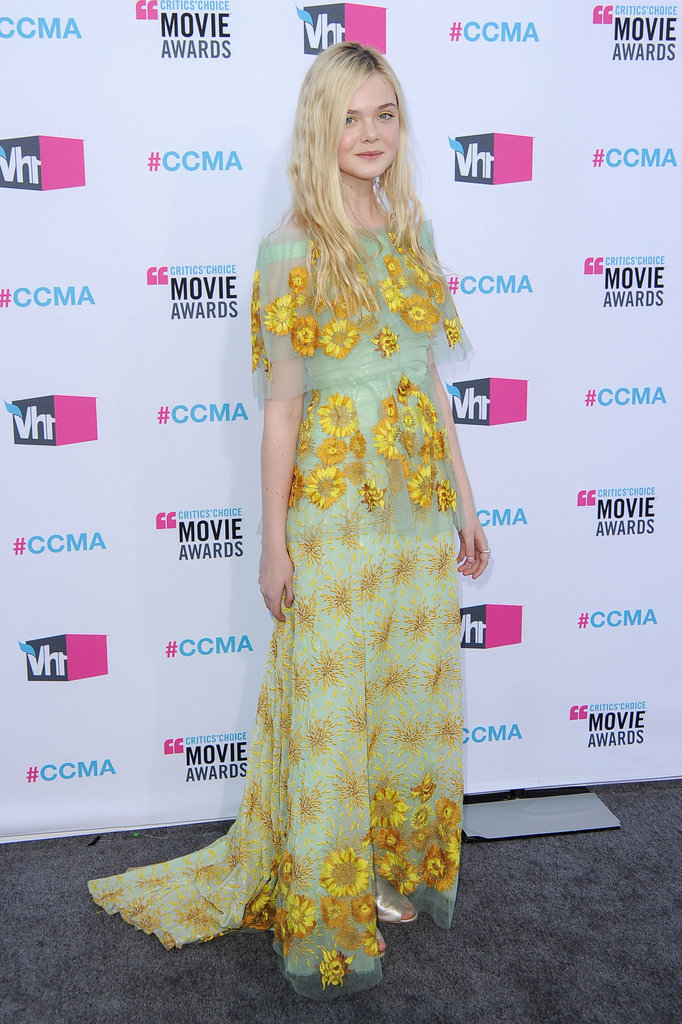 Elle Fanning was in Rodarte at the 2012 Critics' Choice Movie Awards.