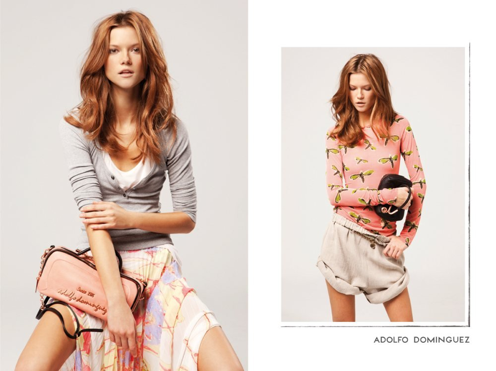 Playful prints, rolled up shorts, sheer maxis, and wearable clutches were all featured in the Adolfo Dominguez campaign. Source: Fashion Gone Rogue