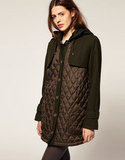 Stay warm all season long in an urban chic quilted coat. ASOS Quilted Coat With Hood in Khaki ($64, originally, $128)