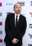 The League's Paul Scheer goofs off before hosting the Critics' Choice Movie Awards.