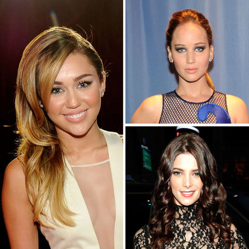Pictures of Celebrity Hair and Makeup Looks From the 2012 People's Choice Awards