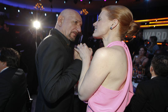 Ben Kingsley and Jessica Chastain