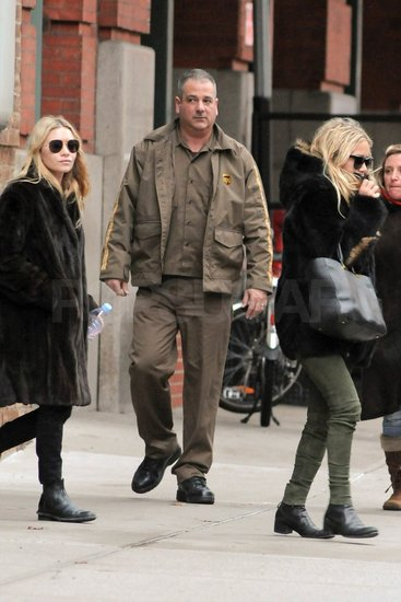 Mary-Kate and Ashley in NYC.