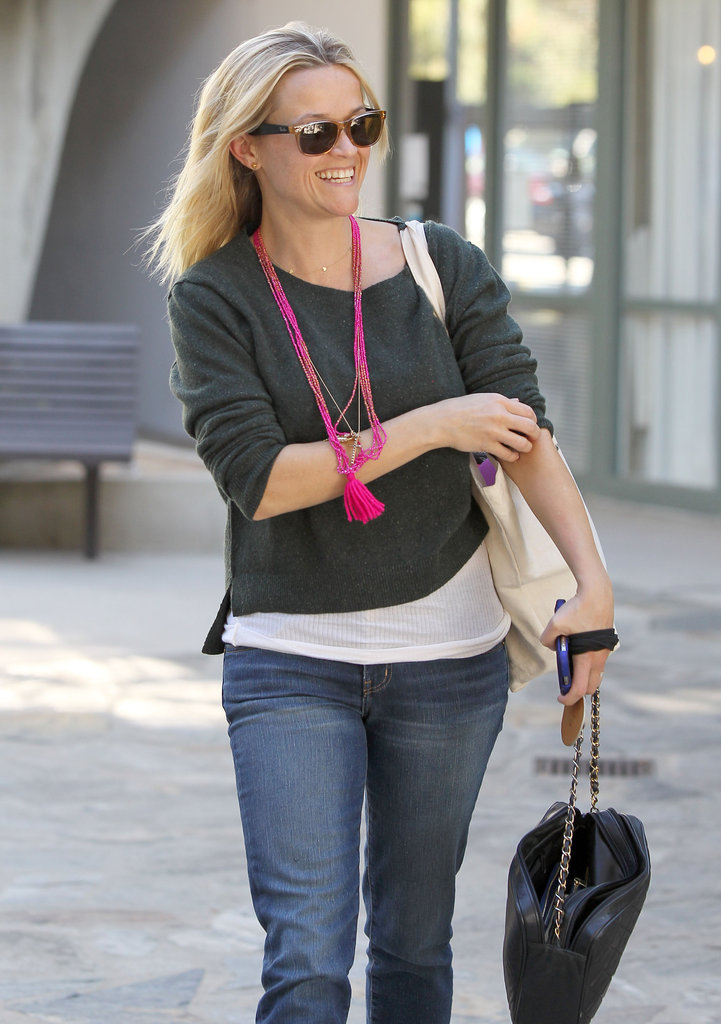 Reese Witherspoon smiled in LA.