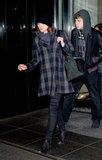 Keira Knightley looked Winter-perfect in plaid.