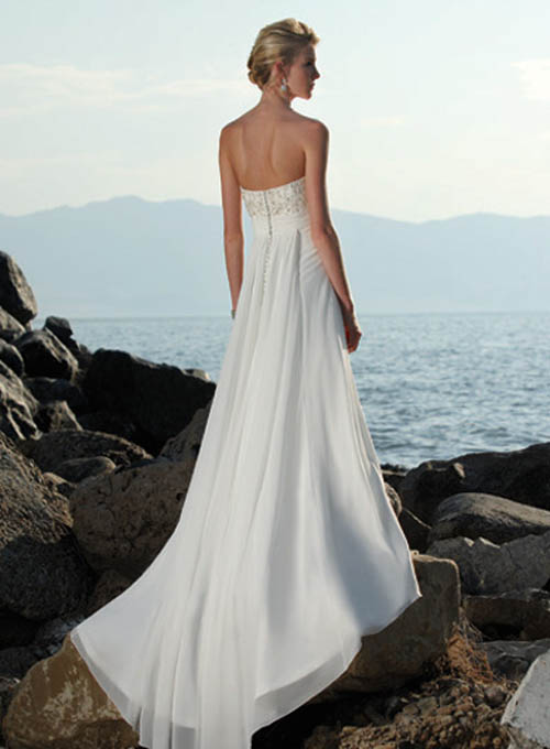 Strapless Beach Wedding Dresses 1
