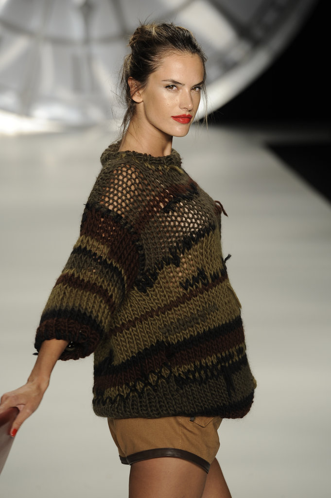 Alessandra Ambrosio walked for Colcci.