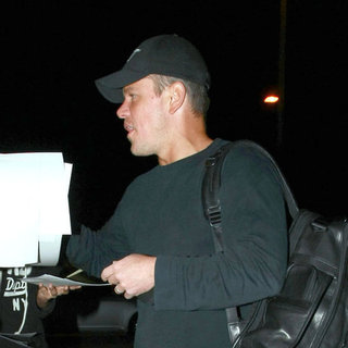 Matt Damon Wearing Baseball Cap Pictures in LA