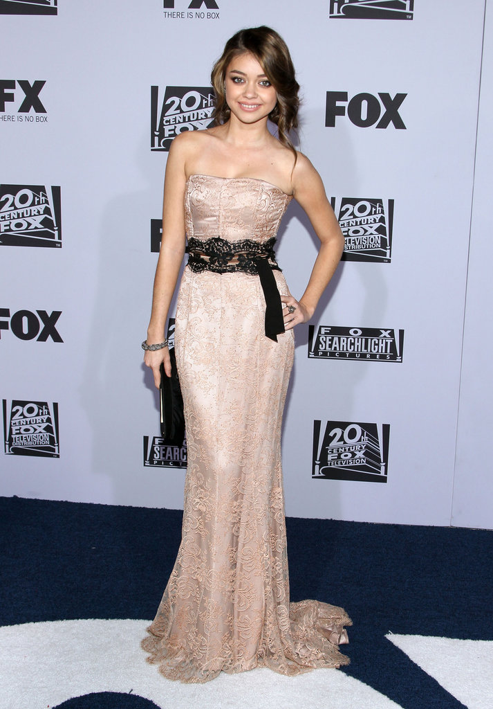 Sarah Hyland attended the Fox after party in Dolce & Gabbana.