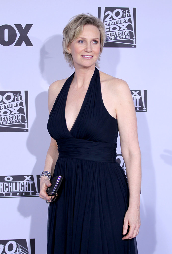 Jane Lynch at the Golden Globes.