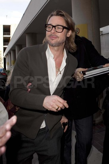 Brad Pitt Dresses Down For a Post-Globes Q & A on Moneyball