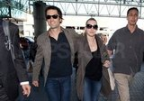Kate and Ned walked in sync through LAX.