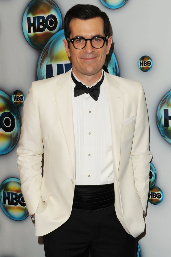 Ty Burrell arrived at HBO's Golden Globes bash.