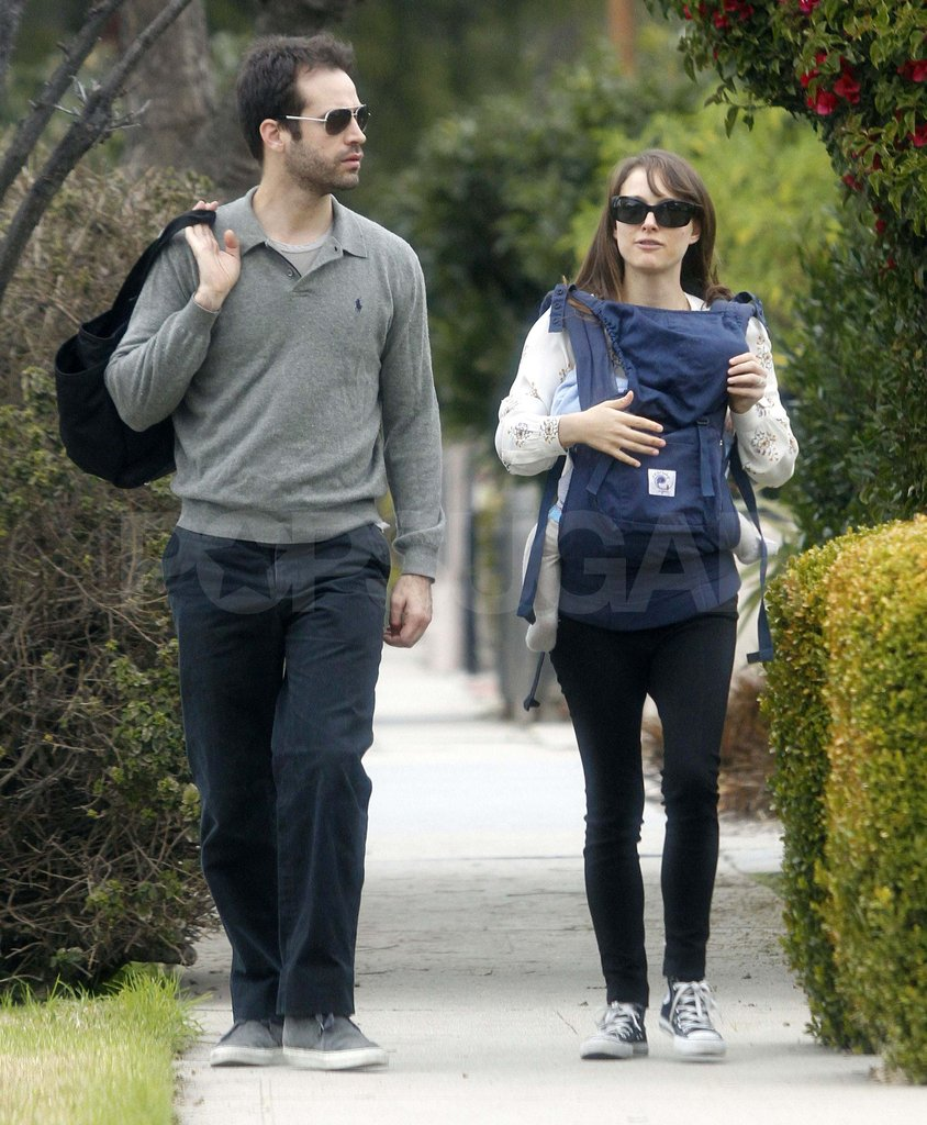 Natalie Portman and Benjamin Millepied with Aleph in LA.