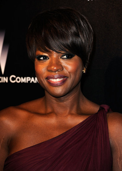 Viola Davis in a one-strap dress.