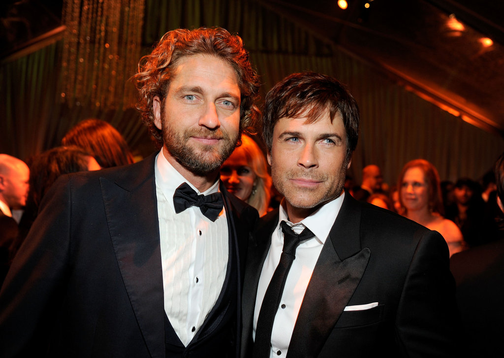 Gerard Butler and Rob Lowe at the Golden Globes.