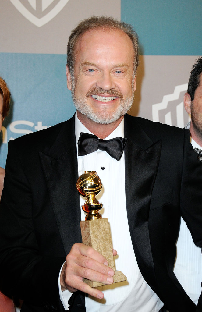 Kelsey Grammer held his Golden Globe at InStyle's Golden Globes afterparty.
