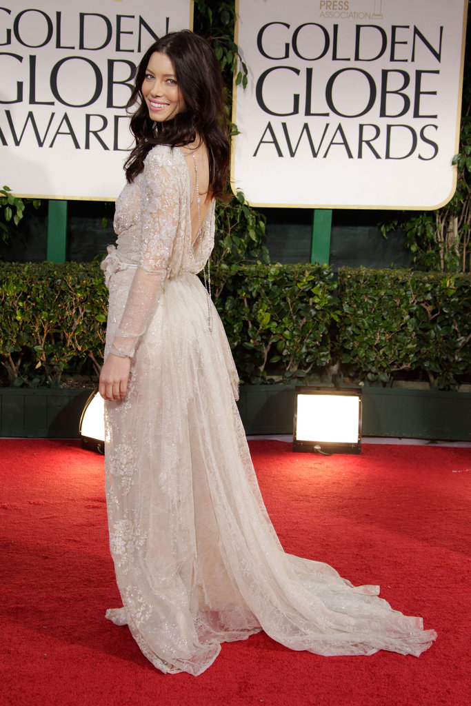Jessica Biel Brings Sparkle and a Smile to the Globes Red Carpet