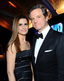Colin Firth posed with wife Livia.
