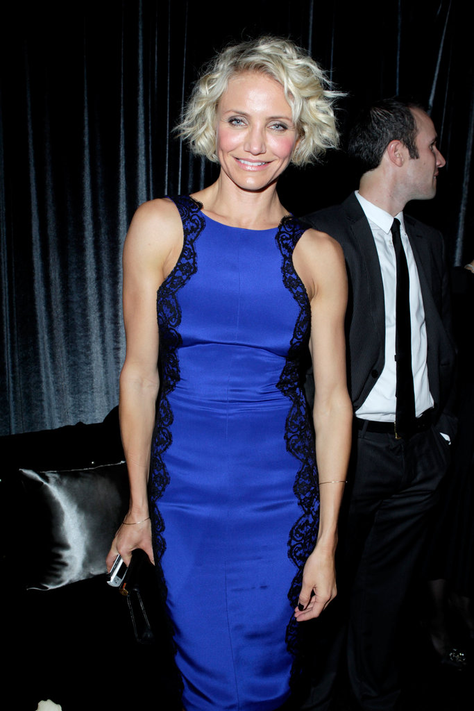 Cameron Diaz attended the Weinstein Company's Golden Globes after party.