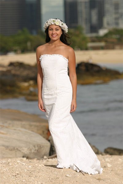 White and Simple Bridal Dress and Designs
