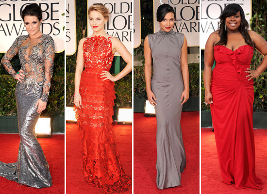 The Cast of Glee Gets Glamorous For the Golden Globes
