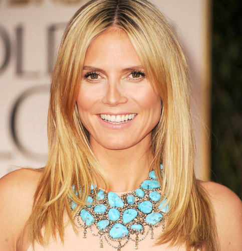 Heidi Klum's 2012 Golden Globes Hair and Makeup Look