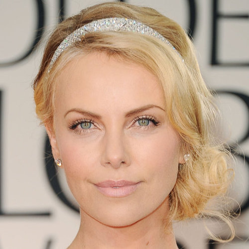 Charlize Theron's 2012 Golden Globes Hair and Makeup Look