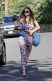 Miranda Kerr carrying Flynn in LA.