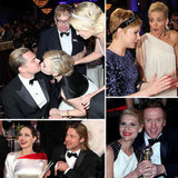 Brad, Angelina, Leo, and More Stars in Candid Shots From Inside the Golden Globes!