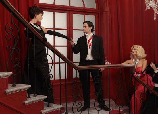Leighton Meester as Blair, Penn Badgley as Dan, and Blake Lively as Serena on Gossip Girl.  Photo courtesy of The CW