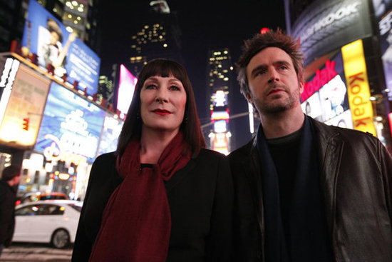 Anjelica Huston and Jack Davenport in Smash.  Photo Courtesy of NBC