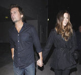 Kate Beckinsale was happy on a date with Len Wiseman.