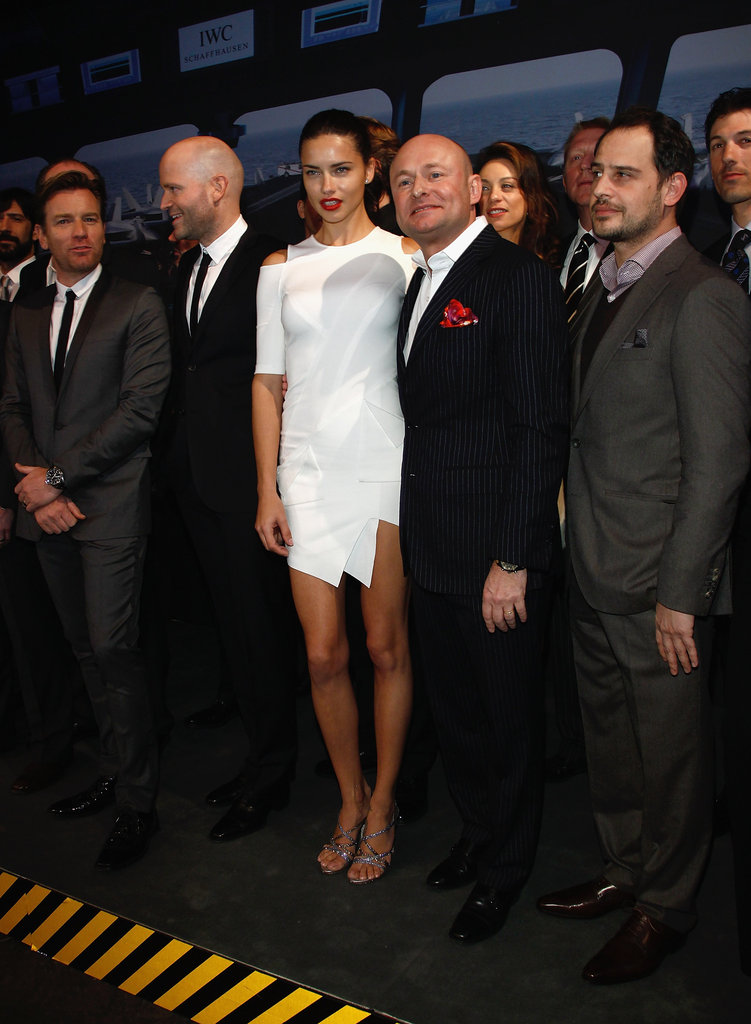 Adriana Lima was the center of attention at the SIHH High Jewelry Fair.