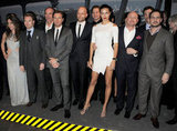 Poker player Olivia Boeree, singer Ronan Keating, actor Herbert Knaup, Ewan McGregor, filmmaker Marc Forster, actor Thomas Heinze, Adriana Lima, CEO of IWC Schaffhausen Georges Kern and actor Moritz Bleibtreu at the IWC Top Gun Gala event in Geneva.