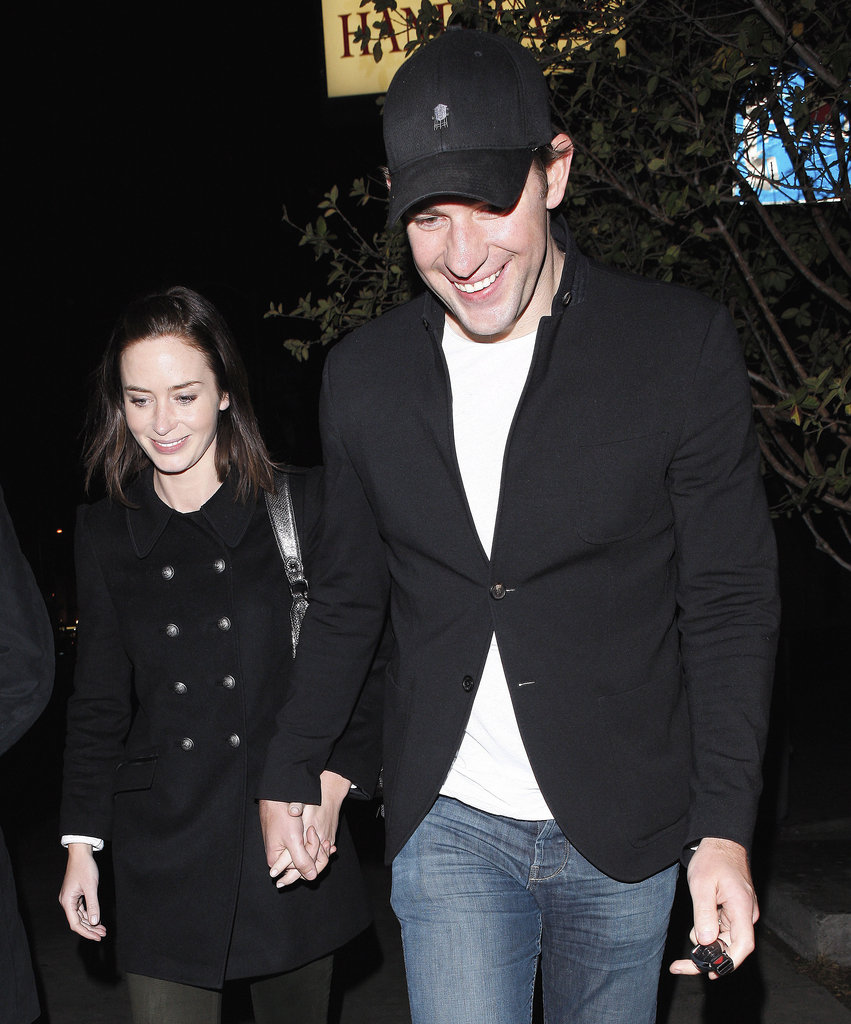 John Krasinski and Emily Blunt showed PDA on a date night.