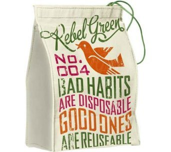 Rebel Green Free Bird-Bad Habits Lunch Bag-Reusable Napkin