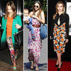 Celebrities Wearing Floral Prints in Winter 2012