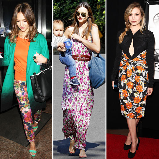 Celebrity Lookbook: Wintertime Florals
