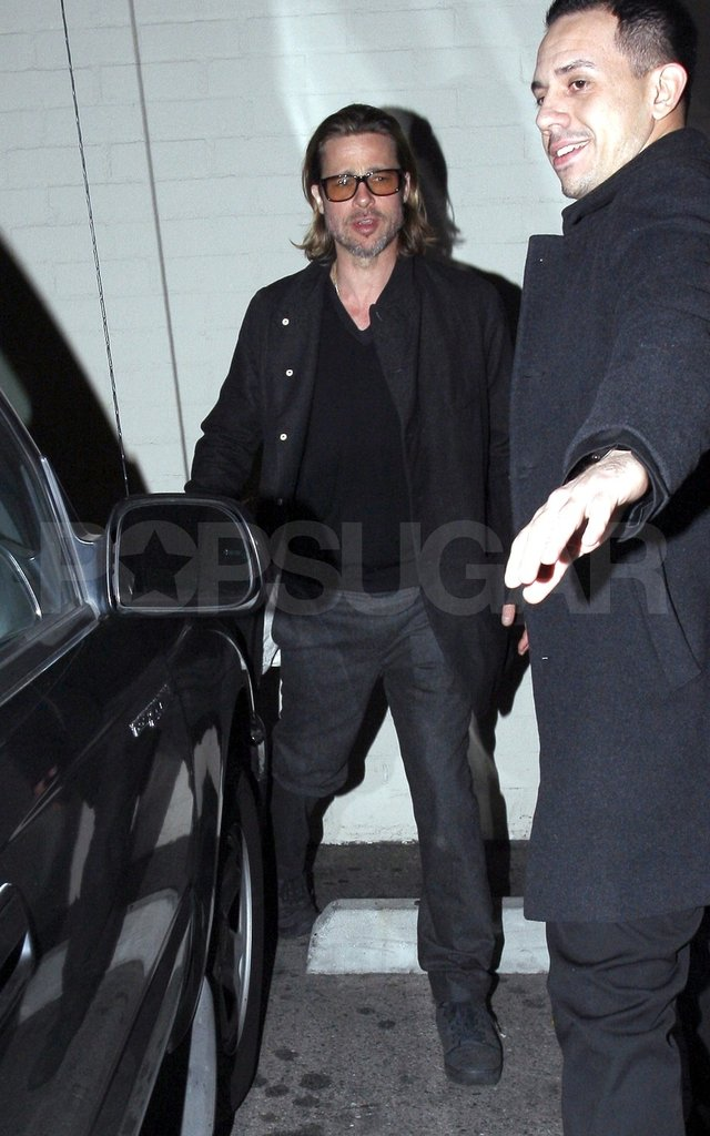 Brad Pitt stepped out of Mastro's Steakhouse in LA