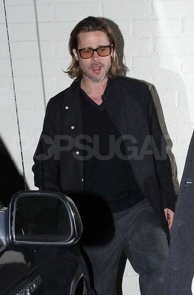 Brad Pitt went to eat at Mastro's Steakhouse in LA.