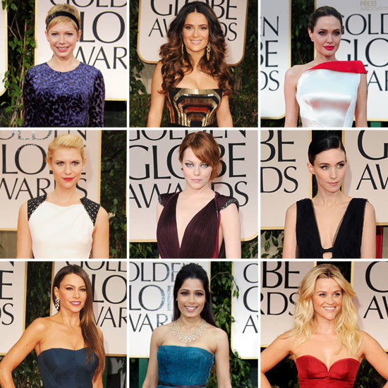 Don't miss a moment of the red-carpet action — here's the full recap of who wore what to the Golden Globe Awards.