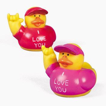 """Sign Language """"I Love You"""" Rubber Duckys ($8 For 12)"""