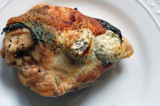 Chicken Breast Stuffed With Goat Cheese and Basil